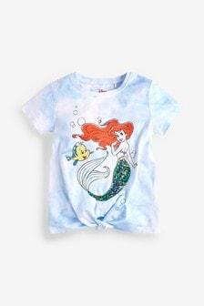 Футболка тай-дай с пайетками по лицензии Little Mermaid (3-16 лет)