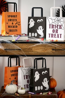 Set of 6 Halloween Trick or Treat Bags