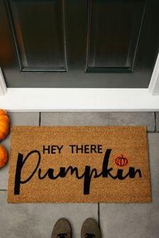 Hello Pumpkin Halloween Doormat