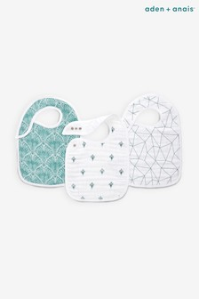aden + anais White Snap Bibs Three Pack