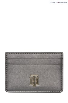 Tommy Hilfiger Grey Lock Metallic Cardholder