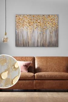 Birch Trees Large Canvas