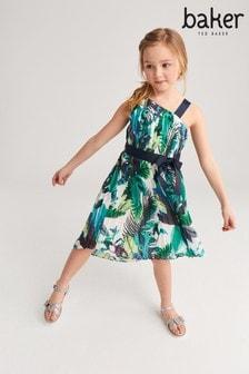 Baker by Ted Baker Plissiertes Kleid mit One-Shoulder-Träger