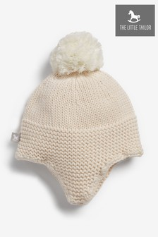 The Little Tailor Pink Trapper Baby Knitted Hat