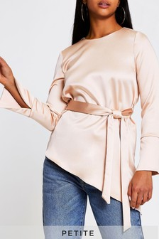River Island Pink Light Asymmetric Hem Top