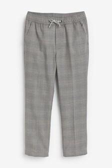 Строгие брюки без застежек (3-16 лет)