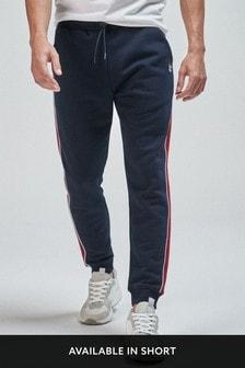 Pantalones de chándal de corte slim con raya lateral