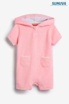 Розовый комбинезон из махровой ткани Sunuva