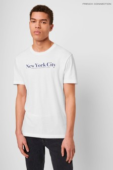 French Connection NYC T-Shirt, Weiß
