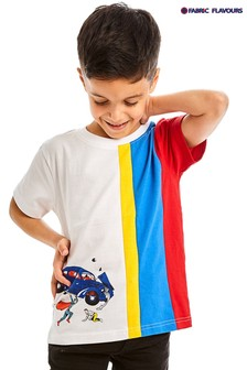 Fabric Flavours DC Superman Action Comic T-Shirt, weiß