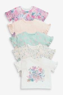 5 Pack Cotton T-shirts (3mths-7yrs) (954807) | $27 - $33