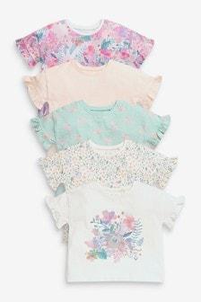 5 Pack Organic Cotton T-Shirts (3mths-7yrs)