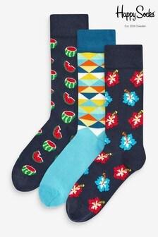 HS By Happy Socks Blue Melon 3 Pack Socks