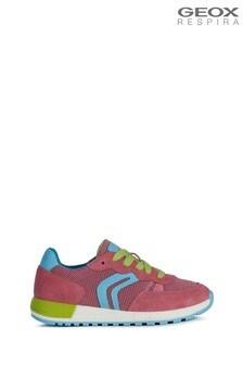Ružové dievčenské topánky Geox Alben