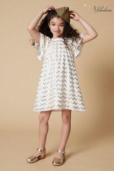 Velveteen White Rosemary Lace Dress