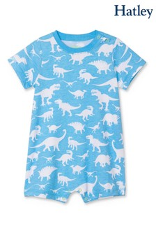 Hatley Blue Dino Silhouettes Baby Romper