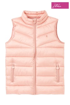 Joules Pink Brook Soft Metallic Padded Gilet