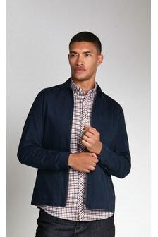 Camicia Oxford elasticizzata a maniche lunghe e a quadretti