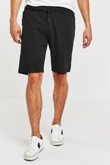 Трикотажные шорты с карманами на молнии