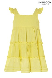 Monsoon嬰兒裝陽光燦爛層次連衣裙