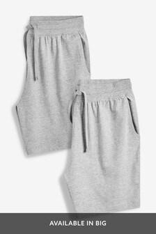 Pack de dos pantalones cortos en marga y antracita de punto