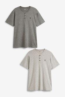 鈕扣領T恤兩件裝