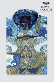 Рубашка приталенного кроя с принтом пейсли Hawes & Curtis