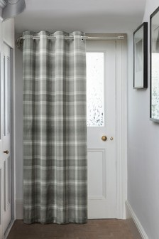 Cosy Check Eyelet Door Curtains