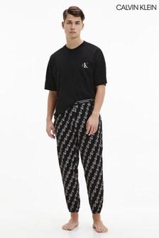 Calvin Klein黑色CK One Lounge牛仔褲套裝