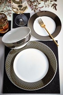 12 Piece Gold Sloane Dinner Set
