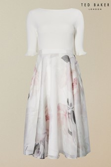 Ted Baker Iline Bouquet Printed Full Skirted Dress
