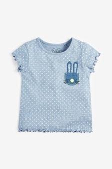 Bodkované tričko so zajačikom (3 mes. – 7 rok.)