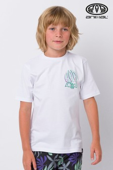 Biele tričko s nápisom Animal Slave