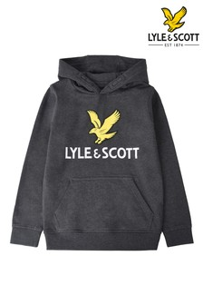 Lyle & Scott Grey Eagle Logo Hoody