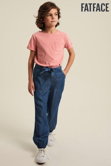 FatFace Blue Chambray Cuffed Trousers