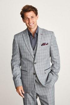 Slim Fit Textured Suit: Jacket