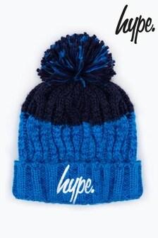 Hype. Apres スキー ポンポン付き ビーニー帽