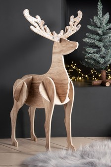 XL Slotted Wooden Stag