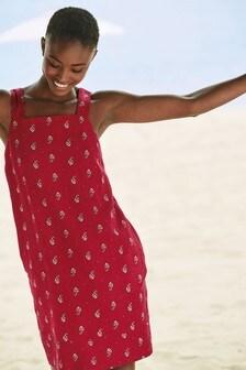 Льняное платье с квадратным вырезом