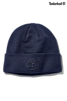 Timberland Navy Tonal 3D Embroidery Beanie
