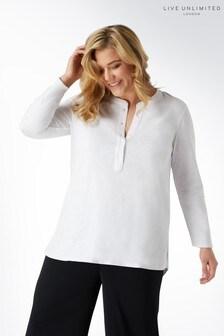Белая футболка из фасонной пряжи Live Unlimited