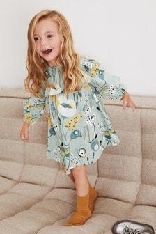 Трикотажное платье с оборками (3 мес.-7 лет)