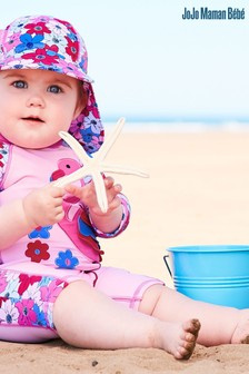 Traje de una pieza con protección solar en rosa de JoJo Maman Bébé