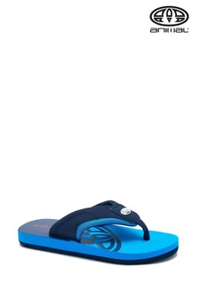 Animal Blue Jekyl Slice Logo Sandals