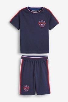 Пижамный комплект с шортами и футбольным мотивом (3-16 лет)