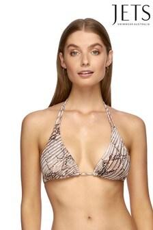 Jets Snake Print Awakening Triangle Bikini Top
