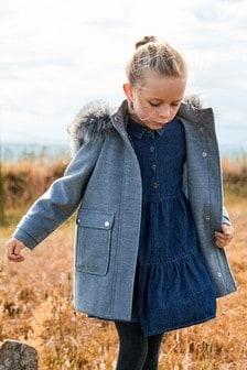 Kabát so zapínaním na olivky (3 – 16 rok.)