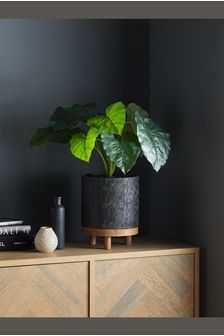 Artificial Anthurium Plant In Embossed Pot