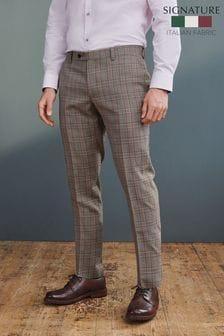 Signature T G Di Fabio Fabric Slim Fit Suit: Trousers