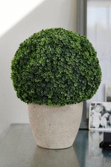 Sztuczne okrągłe drzewko w doniczce